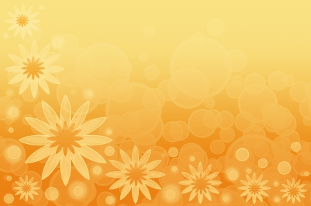 An abstract summer background with yellow flowers