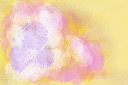 Abstract watercolors on an orange background Stock Photo - 16514136