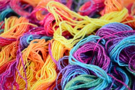 lurex: Background of bright yarn. Bright soft yarn multi colors.