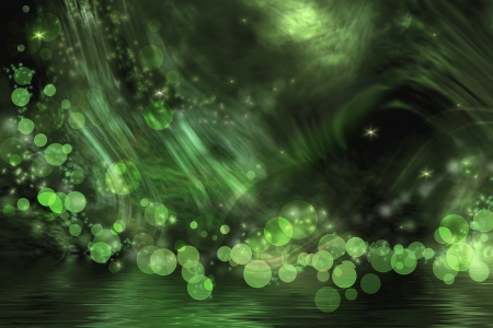 Abstract fantasy in bright green and black colors. Stock Photo - 18083023