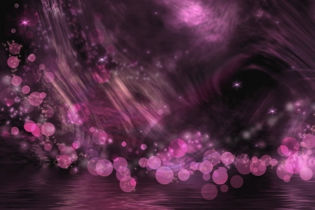 fuschia: Abstract fantasy in dark pink and black colors. Stock Photo
