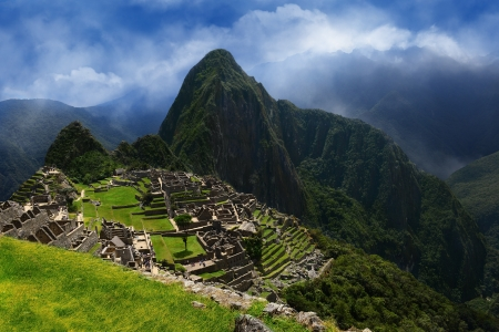 Inca city Machu Picchu. Ancient lost city of incas. photo