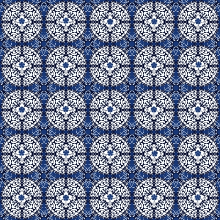 Seamless abstract pattern in blue color. Beautiful background