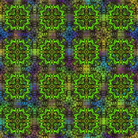 Seamless abstract pattern in green color. Beautiful background