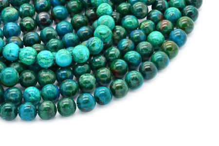 Eilat stone includes an nature alloy of several other semi-precious stones: malachite, azurite, turquoise, pseudomalachite, chrysocolla. photo