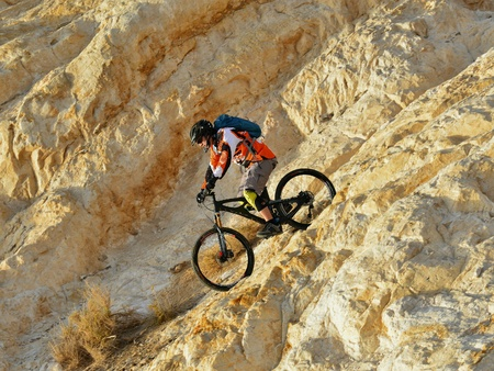 mountain biker: Mountain biker on mountains