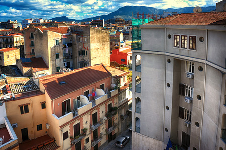 Urban Landscape in city Palermo of Sicily. Stock Photo