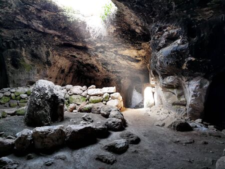 Beautiful Bell Cave in Adulam Caves Park in Israel.