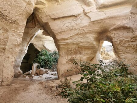 Luzit Bell Caves. Moshav Luzit in Israel. The Luzit Caves are centuries-old, dating back to the Hellenistic period.  Stock Photo