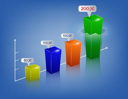 Pasos de negocios modernos a informes de éxito y opciones gráficas bandera. Ilustración del vector plantilla de diseño moderno Ilustración de vector