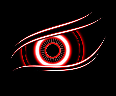 red eye technology abstract background vector Illustration