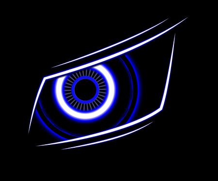 ojo azul: tecnolog�a de ojo azul de fondo abstracto del vector