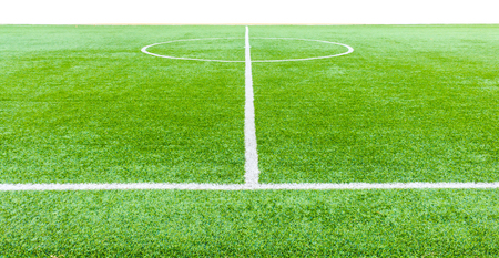 pasto sintetico: The football field line with artificial grass