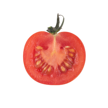 A cherry tomato