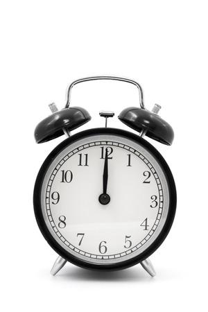 12 o'clock: clock  12 o clock  Stock Photo