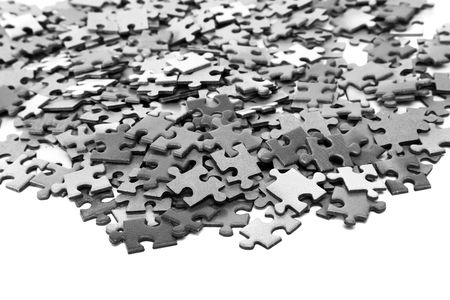 elements of a puzzle on a white background Stock Photo - 4812003