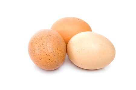 eggs isolated over a white background photo