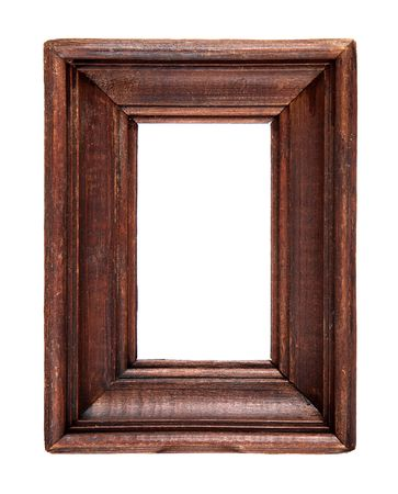 natural wood frame isolated over a white background