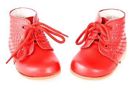 Baby bootees isoliert über einem weißen Hintergrund Standard-Bild - 4812071