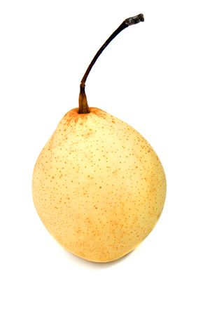 asian pear: chinese pear isolated over a white background