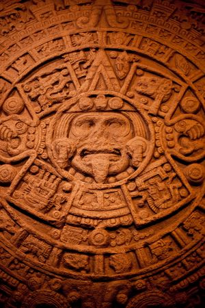 mayan: Stone calendar of North American Indians