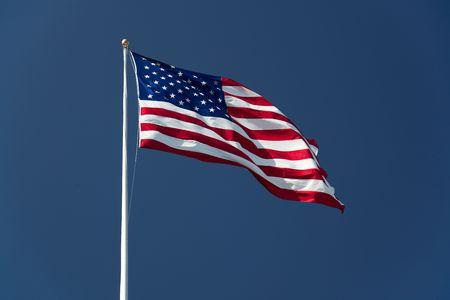 American Flag on the blue sky Standard-Bild