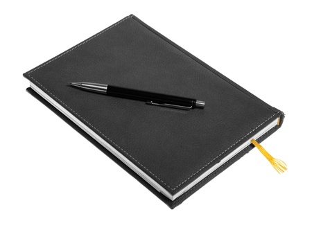 notepad and pen isolated over white background Stock Photo - 8309194