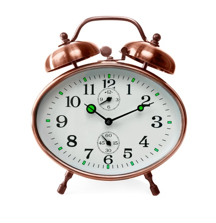 cooper alarm clock isolated over a white background photo