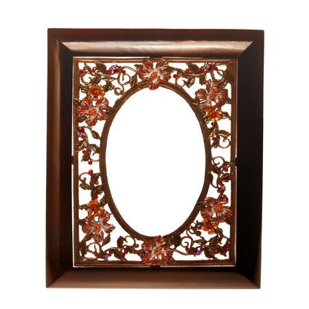wooden insert: wooden frame with a metal insert