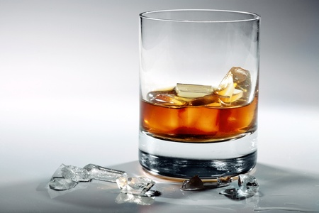 intoxicant: glass of whiskey