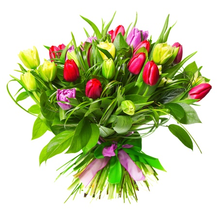 flower bouquet: Beautiful tulips Stock Photo