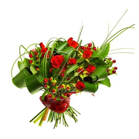 red nose: ramo de rosas rojas