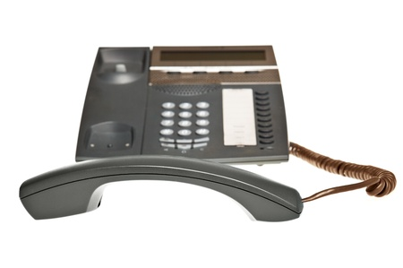 telephone receiver off the hook photo