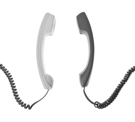 hang up: two handsets are talking