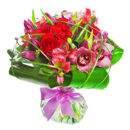 Strauß Tulpen und Rosen Standard-Bild - 12528242