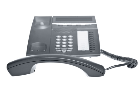 telephone with receiver off the hook photo
