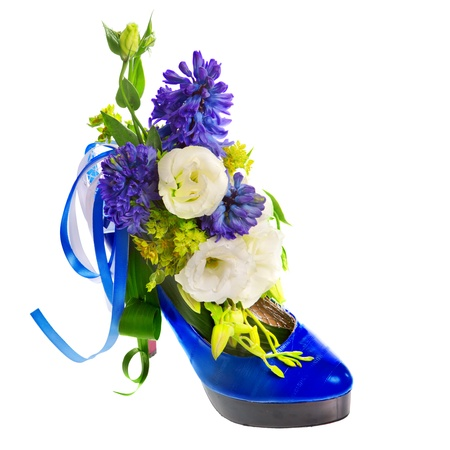 lady s: lady s shoe decorated with flowers Stock Photo