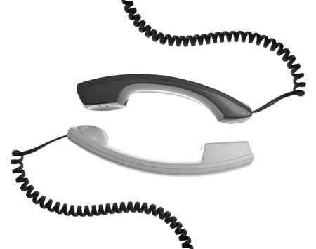 PHONE LINE: two handsets are talking