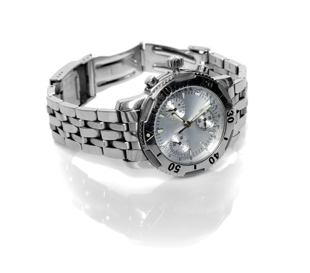 used silver watch