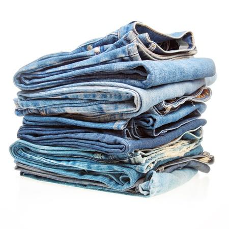 Stapel von Blue-Denim-Kleidung Standard-Bild - 12843132