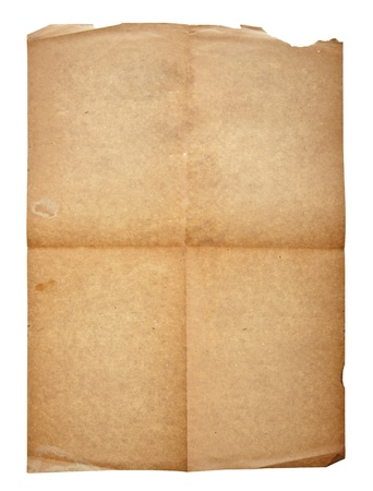 old paper with a curved corner Stock Photo - 12843146