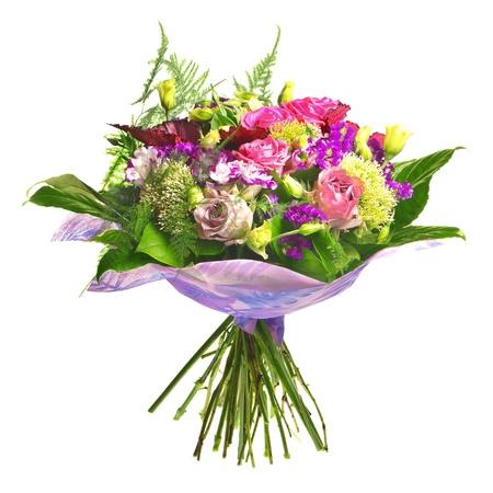 beautiful bouqet of tea roses and alstromeria photo