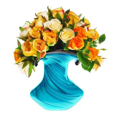 Bouquet von Teerosen in der Vase Standard-Bild - 13125713