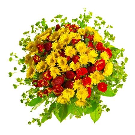 beautiful gerberas and roses photo