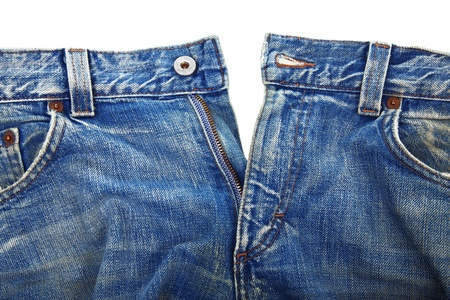 unbuttoned blue jeans Stock Photo - 13307187