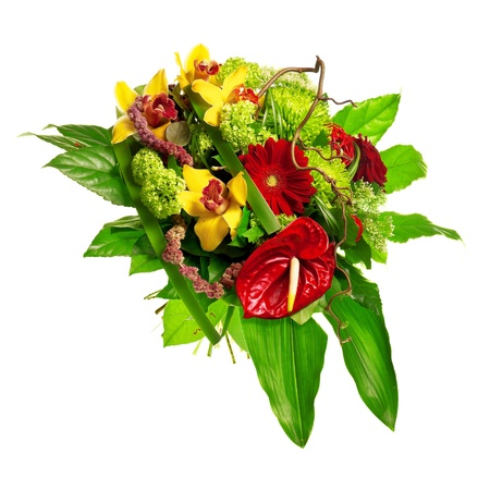 bouquet of gerberas, lily and anthurium Stock Photo - 13307184