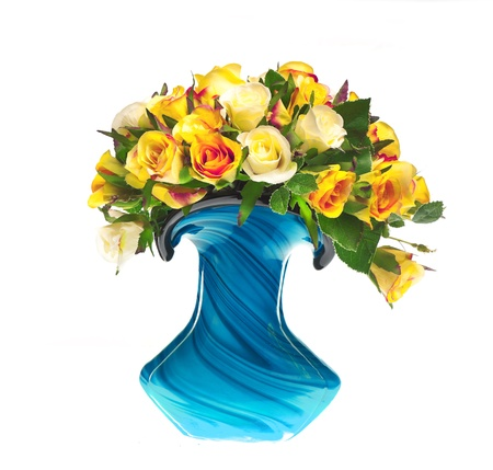 bouquet of tea roses in the vase Stock Photo - 13307176