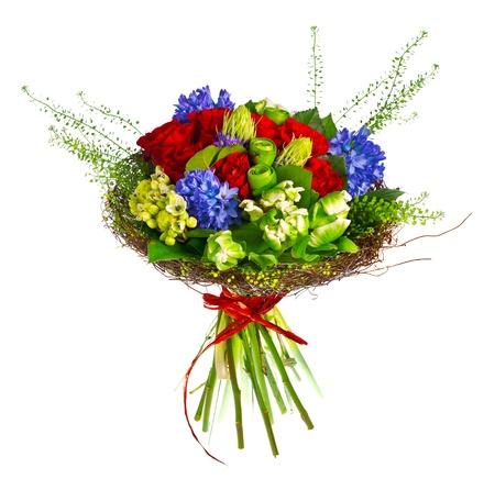 Bouquet von Rosen, hyacinthus und Greens Standard-Bild - 13623056
