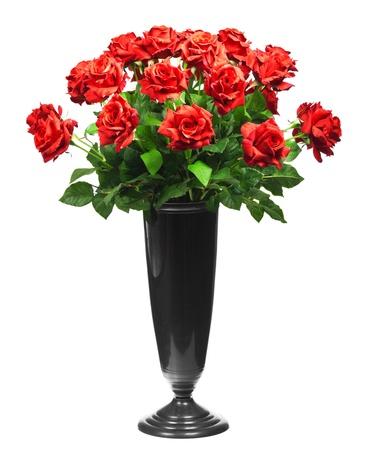 Strauß roter Rosen auf weißem Hintergrund Standard-Bild - 13623054