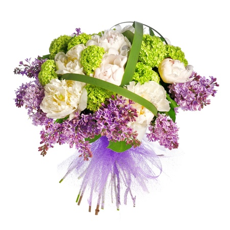 bouquet of lilacs, roses and irises Stock Photo - 13757728